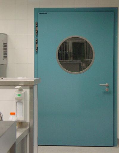 Betriebsraum-Drehtür Typ EBF 11.060 für Lebensmittel, Kühlraumtüren, Gefrierraumtüren, Tiefkühlraumtüren, Betriebsraumtüren, Pendeltüren